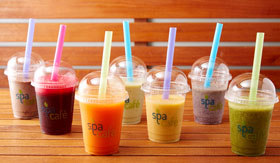A selection of smoothies