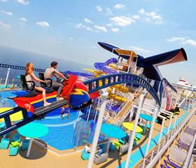 Carnival Mardi Gras Rollercoast - Courtesy of Carnival Cruise Line