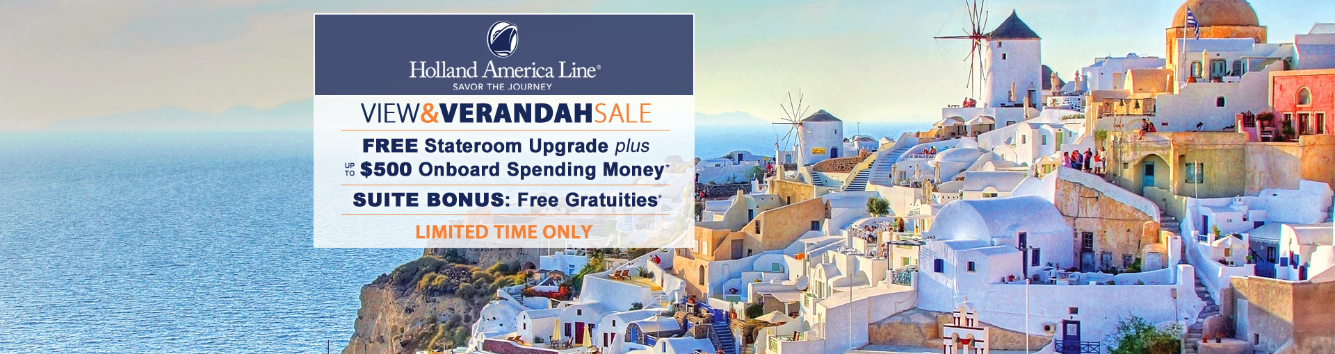 Holland America Line: FREE Gratuities for 2020 Europe