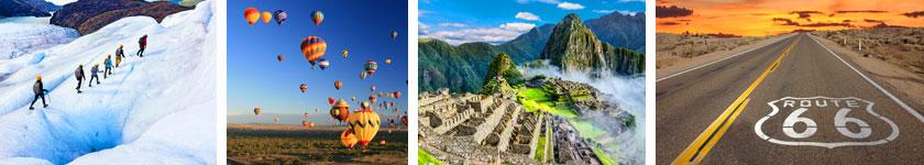 Land Tour Destinations: Glacier Hiking, Hot Air Balloon Rides, Machu Picchu and Route 66