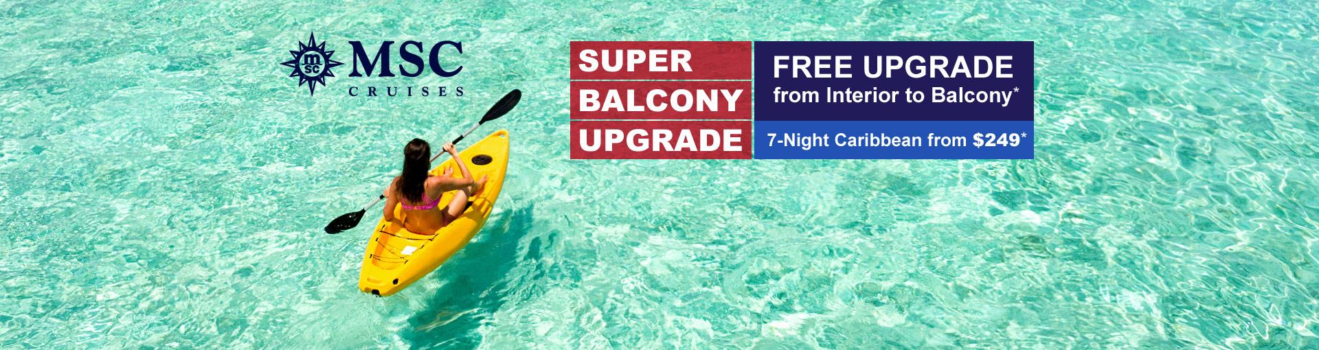 MSC Cruises - Super Balcony Upgrade Sale