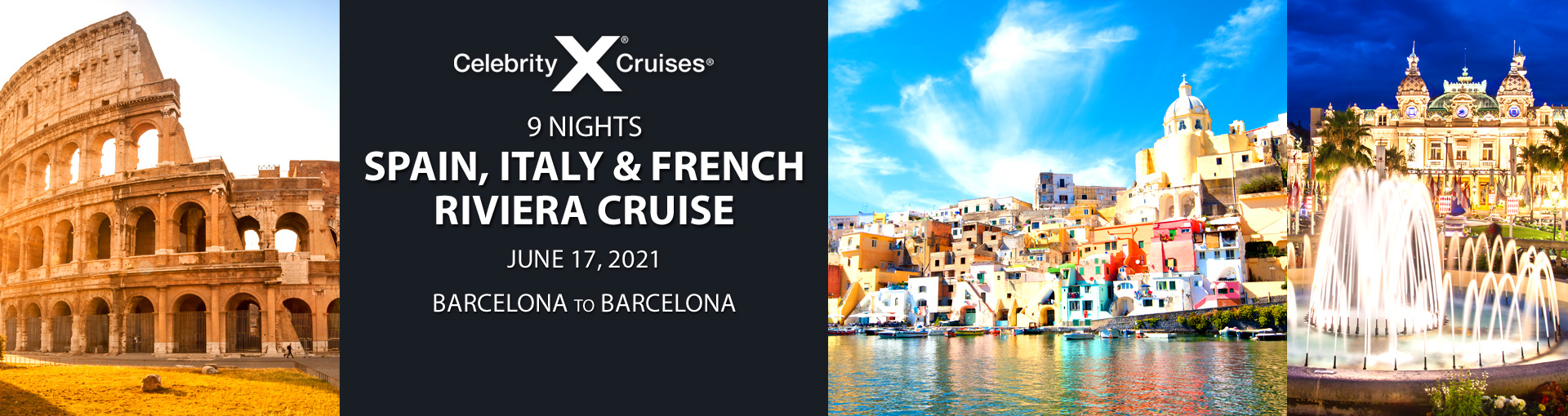 Celebrity Cruises: Exclusive offer for Spain, Italy and French Riviera cruise departing June 17, 2021