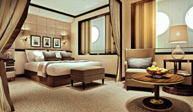 Windstar Cruises Sail Ship Oceanview Suite