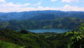 Lake within the jungle in Samana