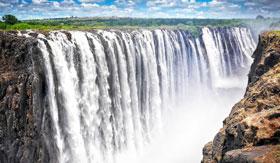 Overhead of Victoria Falls