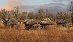 Traditional West African huts