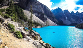 Moraine Lake in Banff, Canada with Cosmos Tours