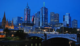Melbourne Cityscape at dusk