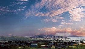 Panoramic view of Basseterre