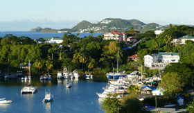 Yacht harbor in Castries