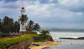 Dutch lighthouse in Galle, Sri Lanka