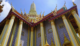 Gold molding on the Grand Palace in Bangkok