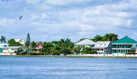 Coastline of Belize City