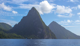 Mighty Pitons in St. Lucia