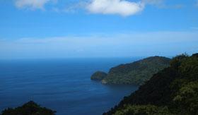 Trinidad's lush coastline