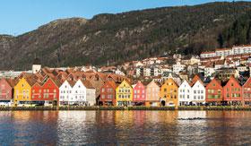 Bryggen on the Bergen coastline