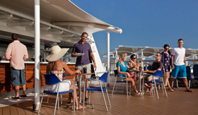 Pool and Mast Bar aboard Celebrity Millennium