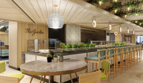 The Garden, a healthy option, in Indulge Food Hall on Norwegian Prima