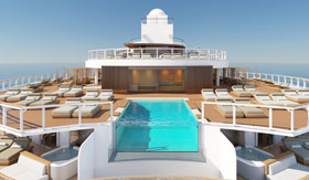 The Haven pool deck and lounge on Norwegian Prima