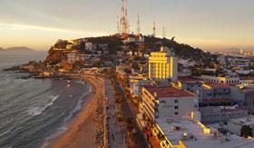 Iconic shopping district in Ensenada, the Malecon Boardwalk.