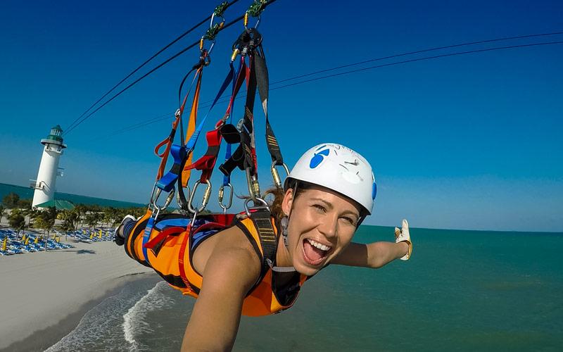 Flighthouse Zipline at Harvest Caye, Belize