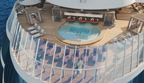 The Retreat Pool Bar aboard Celebrity Beyond