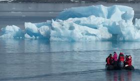 Arctic zodiac landing with Atlas Ocean Voyages