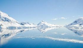 Panoramic photo of Antarctica