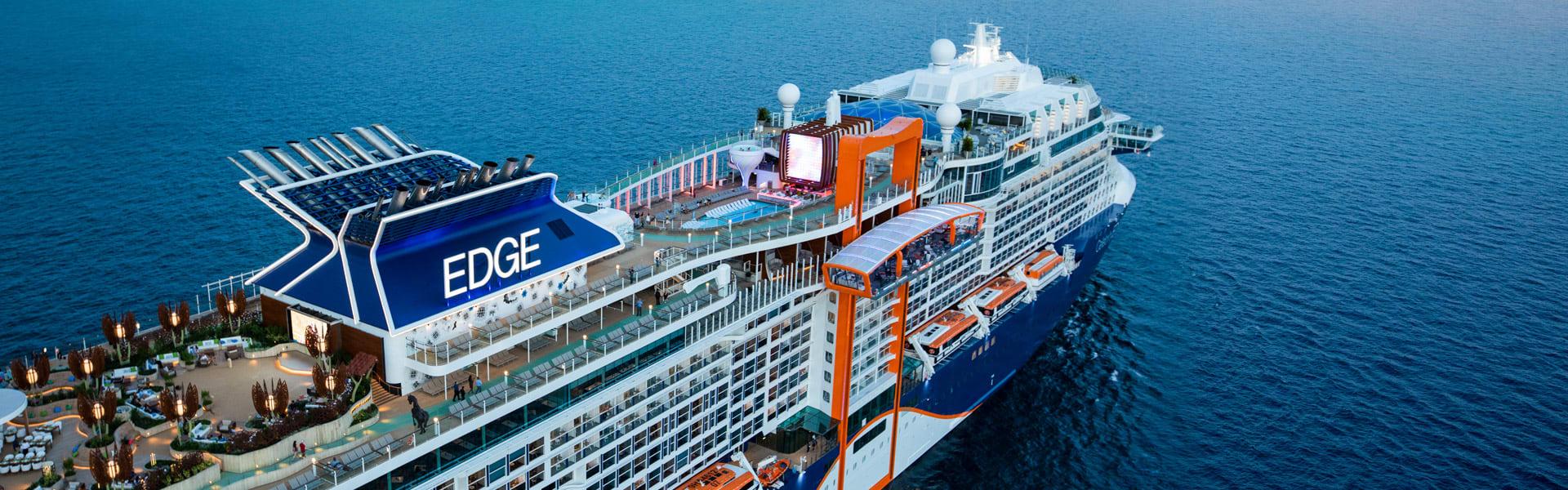 Aerial photo of sailing on Celebrity Edge