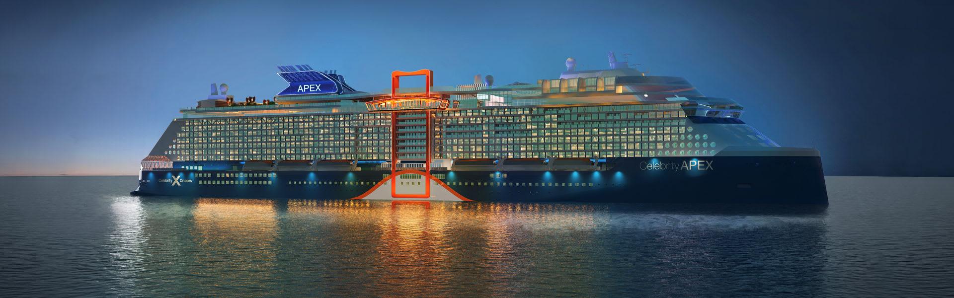 Celebrity Apex Night Ship Rendering