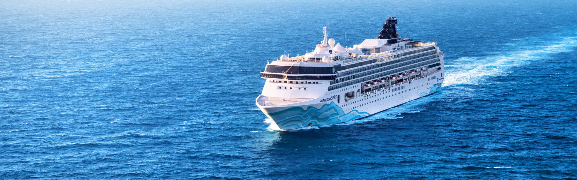 Norwegian Spirit Cruise Ship Aerial Photo