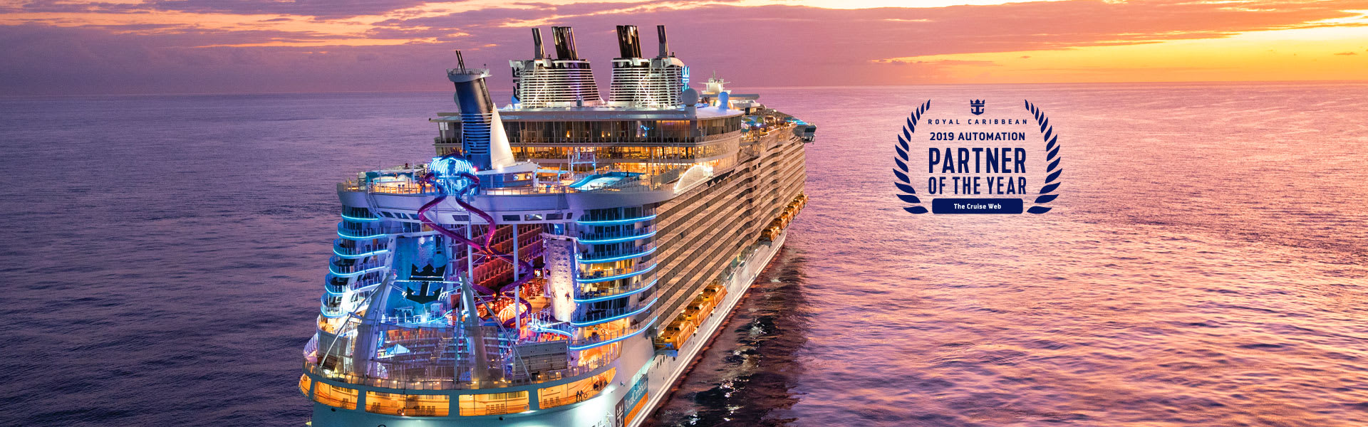 The Cruise Web is Royal Caribbean's 2019 Automation Partner of the Year