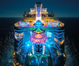 Harmony of the Seas at Night - Courtesy of Royal Caribbean