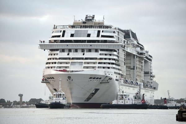 MSC Bellissima during construction - Courtesy of MSC Cruises