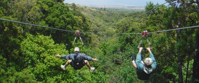 Hawaii Vacation - Ziplining
