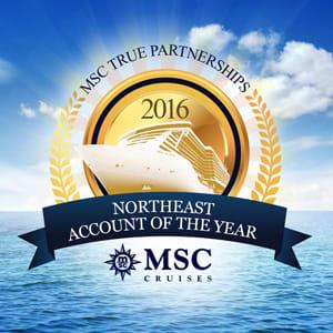 MSC Cruises Northeast Account of the Year