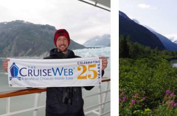 Banner in Glacier Bay, Portage Glacier