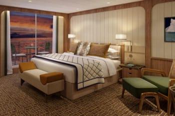 Seabourn Signature Suite bedroom