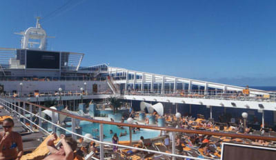 The pool was the place to be on our day at sea heading to the Bahamas.
