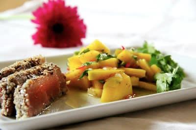 Tuna with papaya