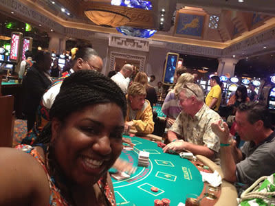 I can't get enough of the blackjack at The Atlantis Casino on Paradise Island.