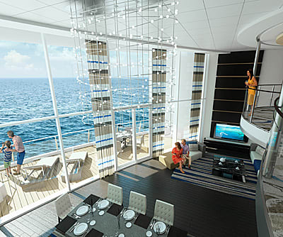 A rendering of a loft space on the Quantum of the Seas. Photo courtesy of Royal Caribbean International.