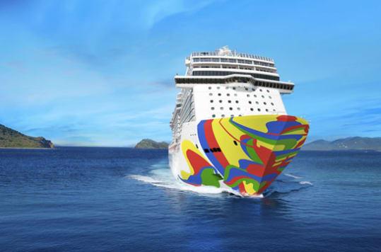 Norwegian Encore hull rendering