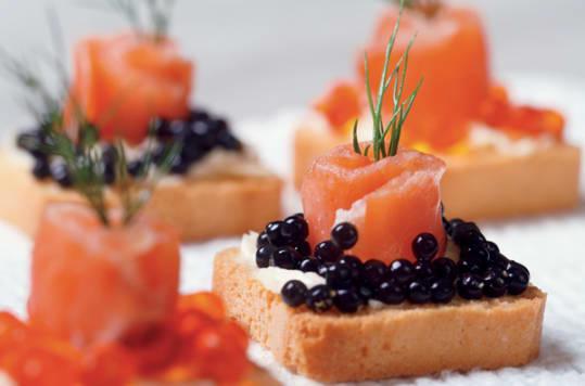 A caviar canape