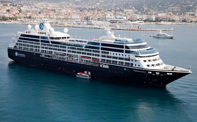 The Azamara Quest, one of three ships in the Azamara Club Cruises fleet.