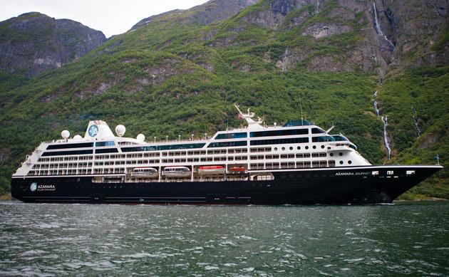 The Azamara Journey, one of three ships in the Azamara Club Cruises fleet.