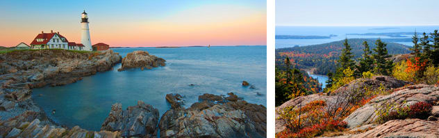 Scenery in Canada and New England