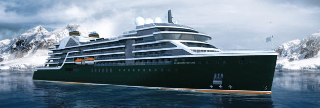 Exterior rendering of Seabourn Venture