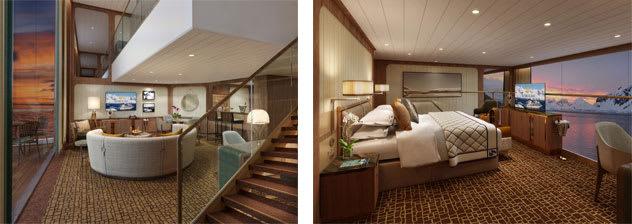 Wintergarden suite living room and bedroom