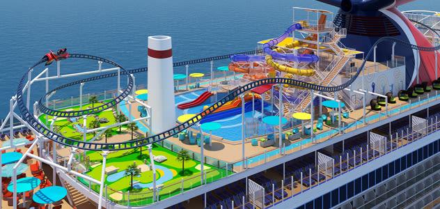 Carnival Mardi Gras Top Deck of Cruise Ship